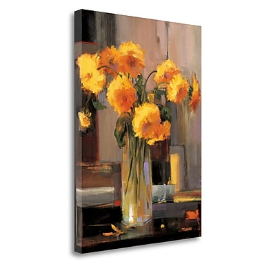 Tangletown Fine Art 'Floral Sunrise' Print on Wrapped Canvas; 29'' H x 21'' W