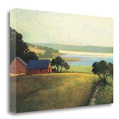 Tangletown Fine Art 'Salt Water Farm' Graphic Art Print on Wrapped Canvas; 20'' H x 29'' W