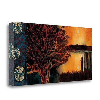 Tangletown Fine Art 'Burning Heart' Graphic Art Print on Wrapped Canvas; 17'' H x 34'' W
