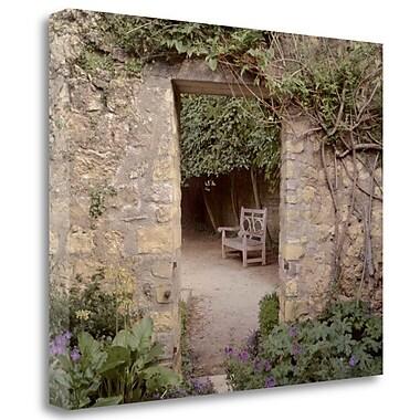 Tangletown Fine Art 'Banc de Jardin - 11' Photographic Print on Wrapped Canvas; 18'' H x 22'' W