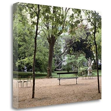 Tangletown Fine Art 'Banc de Jardin - 10' Photographic Print on Wrapped Canvas; 25'' H x 31'' W