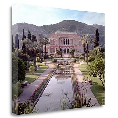 Tangletown Fine Art 'Banc de Jardin - 14' Photographic Print on Wrapped Canvas; 18'' H x 22'' W