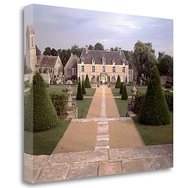 Tangletown Fine Art 'Banc de Jardin - 15' Photographic Print on Wrapped Canvas; 21'' H x 26'' W