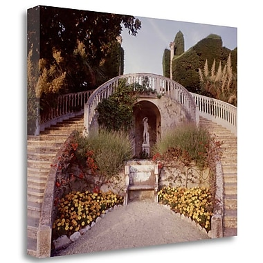 Tangletown Fine Art 'Banc de Jardin - 16' Photographic Print on Wrapped Canvas; 28'' H x 35'' W