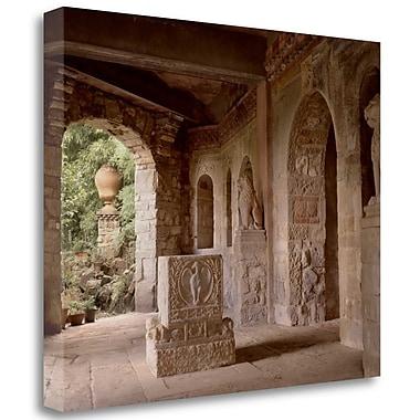 Tangletown Fine Art 'Banc de Jardin - 20' Photographic Print on Wrapped Canvas; 28'' H x 35'' W