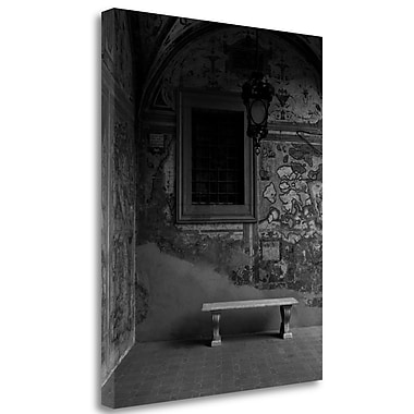Tangletown Fine Art 'Banc de Jardin - 22A' Photographic Print on Wrapped Canvas; 45'' H x 35'' W
