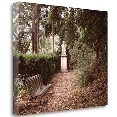 Tangletown Fine Art 'Banc de Jardin - 23' Photographic Print on Wrapped Canvas; 35'' H x 43'' W