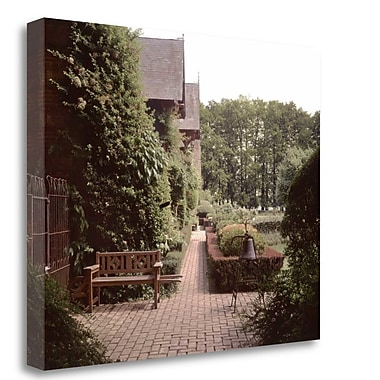 Tangletown Fine Art 'Banc de Jardin - 27' Photographic Print on Wrapped Canvas; 21'' H x 26'' W