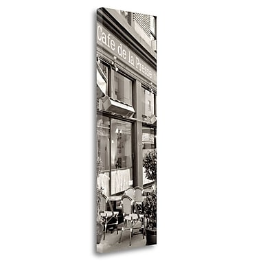Tangletown Fine Art 'Cafe la Presse Pano - 1' Photographic Print on Wrapped Canvas; 39'' H x 13'' W