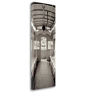 Tangletown Fine Art 'Cable Car Pano - 2' Photographic Print on Wrapped Canvas; 39'' H x 15'' W