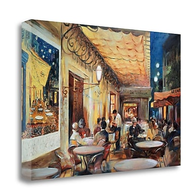Tangletown Fine Art 'Cafe Van Gogh' Print on Wrapped Canvas; 32'' H x 48'' W