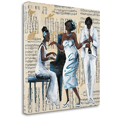 Tangletown Fine Art 'Blue Moon' Print on Wrapped Canvas; 25'' H x 25'' W