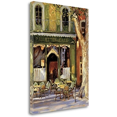 Tangletown Fine Art 'Paulettes Cafe' Print on Wrapped Canvas; 47'' H x 35'' W