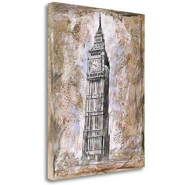 Tangletown Fine Art 'Big Ben' Graphic Art Print on Wrapped Canvas; 32'' H x 25'' W