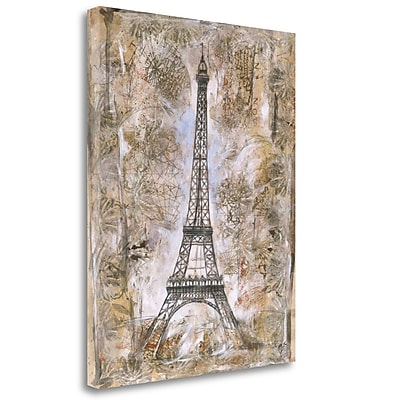 Tangletown Fine Art 'Eiffel Tower' Graphic Art Print on Wrapped Canvas; 32'' H x 25'' W