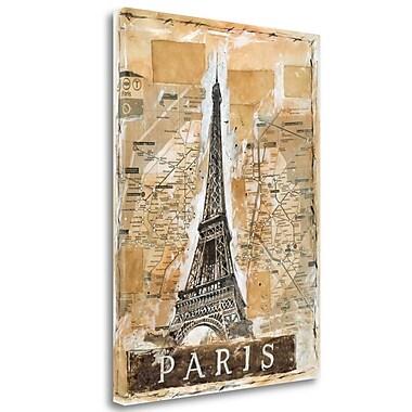 Tangletown Fine Art 'Paris' Graphic Art Print on Wrapped Canvas; 38'' H x 28'' W