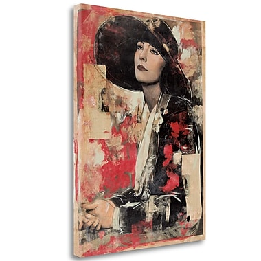 Tangletown Fine Art 'Vintage Goddess II' Graphic Art Print on Wrapped Canvas; 28'' H x 21'' W