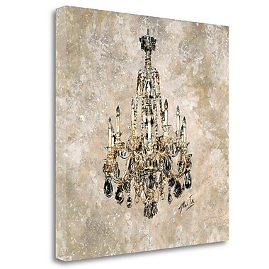 Tangletown Fine Art 'Champagne Chandelier' Graphic Art Print on Wrapped Canvas; 24'' H x 24'' W