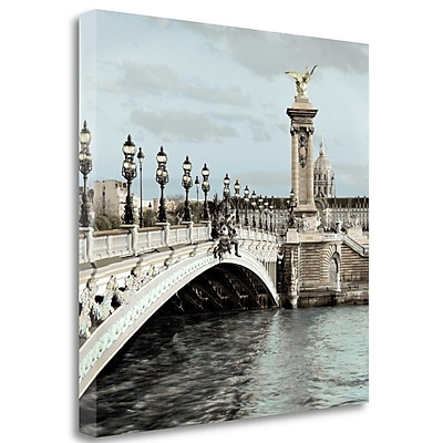 Tangletown Fine Art 'Paris - 12' Photographic Print on Wrapped Canvas; 30'' H x 30'' W