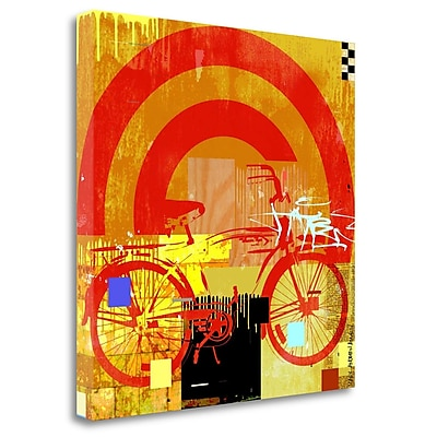Tangletown Fine Art 'Bicycle' Graphic Art Print on Wrapped Canvas; 35'' H x 35'' W
