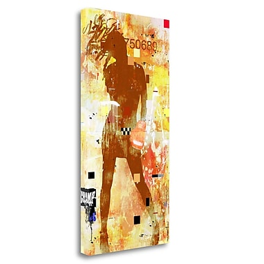 Tangletown Fine Art 'Knockout' Graphic Art Print on Wrapped Canvas; 29'' H x 15'' W