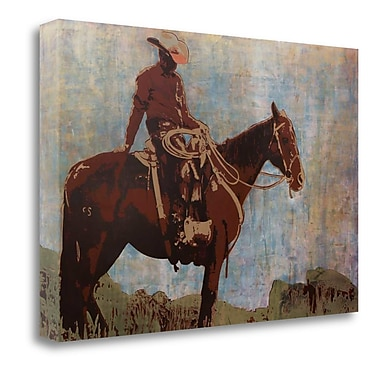 Tangletown Fine Art 'Western Moment' Print on Wrapped Canvas; 15'' H x 22'' W