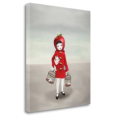 Tangletown Fine Art 'Ruby' Graphic Art Print on Wrapped Canvas; 40'' H x 34'' W