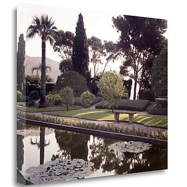 Tangletown Fine Art 'Banc de Jardin - 32' Photographic Print on Wrapped Canvas; 28'' H x 35'' W