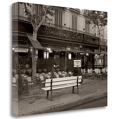 Tangletown Fine Art 'Banc de Jardin - 40' Photographic Print on Wrapped Canvas; 18'' H x 22'' W