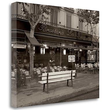 Tangletown Fine Art 'Banc de Jardin - 40' Photographic Print on Wrapped Canvas; 21'' H x 26'' W
