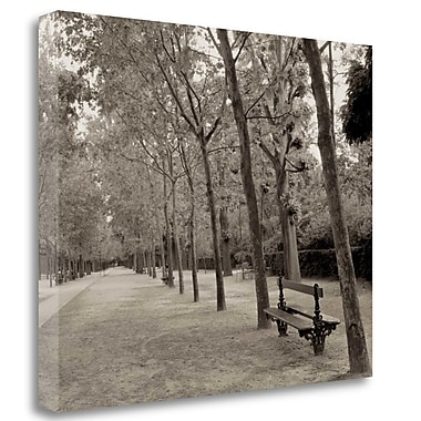 Tangletown Fine Art 'Banc de Jardin - 44' Photographic Print on Wrapped Canvas; 18'' H x 22'' W