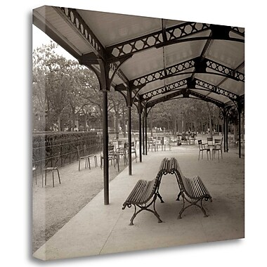 Tangletown Fine Art 'Banc de Jardin - 48' Photographic Print on Wrapped Canvas; 25'' H x 31'' W