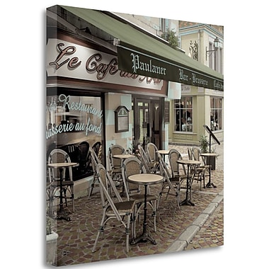 Tangletown Fine Art 'Le Cafe des Arts' Photographic Print on Wrapped Canvas; 20'' H x 20'' W