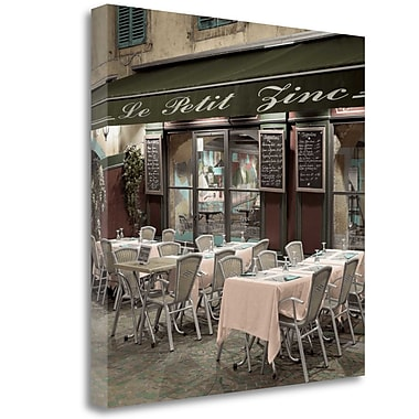 Tangletown Fine Art 'Le Petit Zinc Cafe' Photographic Print on Wrapped Canvas; 35'' H x 35'' W