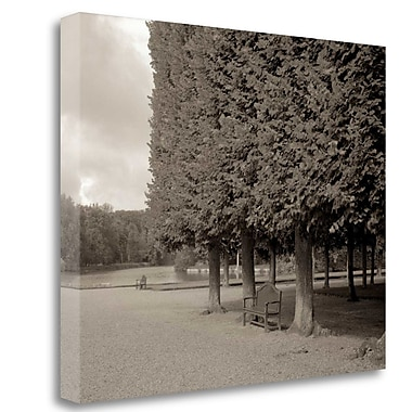 Tangletown Fine Art 'Banc de Jardin - 53' Photographic Print on Wrapped Canvas; 21'' H x 26'' W