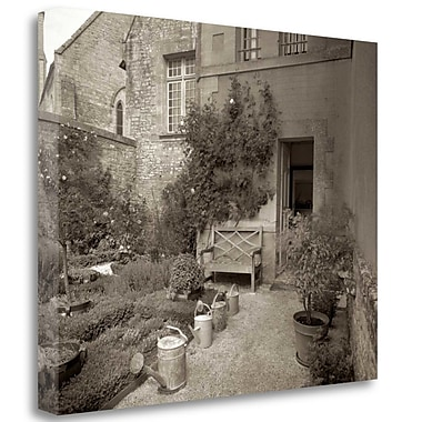 Tangletown Fine Art 'Banc de Jardin - 55' Photographic Print on Wrapped Canvas; 28'' H x 35'' W