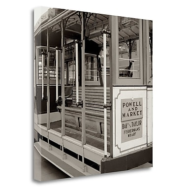 Tangletown Fine Art 'Cable Car Interior - 6' Photographic Print on Wrapped Canvas; 35'' H x 35'' W