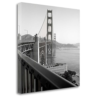 Tangletown Fine Art 'Golden Gate Bridge - 30' Photographic Print on Wrapped Canvas; 20'' H x 20'' W