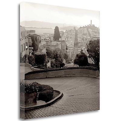 Tangletown Fine Art 'Lombard Street - 1' Photographic Print on Wrapped Canvas; 30'' H x 30'' W
