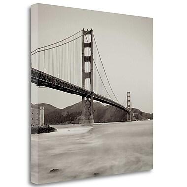 Tangletown Fine Art 'Golden Gate Bridge - 34' Photographic Print on Wrapped Canvas; 35'' H x 35'' W