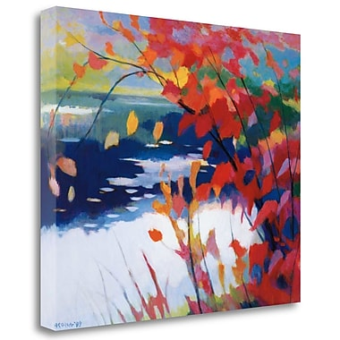 Tangletown Fine Art 'Afternoon Calm' Graphic Art Print on Wrapped Canvas; 21'' H x 26'' W