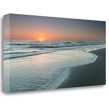 Tangletown Fine Art 'Atlantic Sunrise No. 8' Photographic Print on Wrapped Canvas; 13'' H x 26'' W
