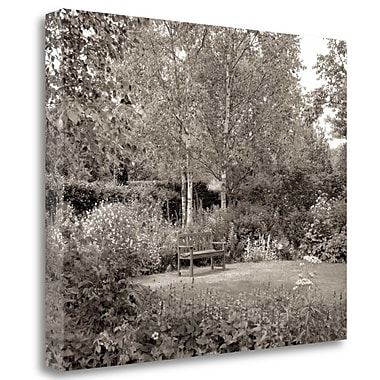 Tangletown Fine Art 'Banc de Jardin - 58' Photographic Print on Wrapped Canvas; 28'' H x 35'' W