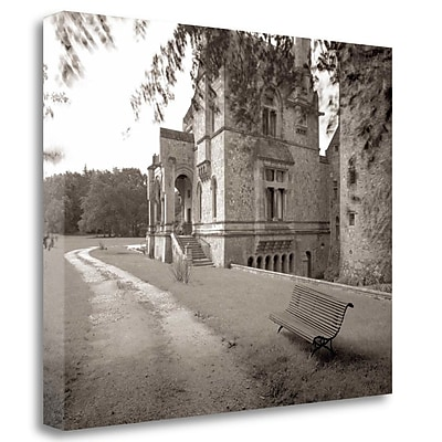 Tangletown Fine Art 'Banc de Jardin - 60' Photographic Print on Wrapped Canvas; 35'' H x 43'' W