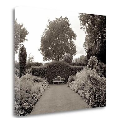 Tangletown Fine Art 'Banc de Jardin - 61' Photographic Print on Wrapped Canvas; 28'' H x 35'' W
