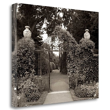 Tangletown Fine Art 'Banc de Jardin - 76' Photographic Print on Wrapped Canvas; 35'' H x 43'' W