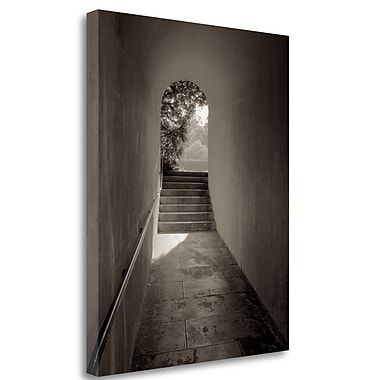 Tangletown Fine Art 'Banc de Jardin - 78' Photographic Print on Wrapped Canvas; 27'' H x 21'' W