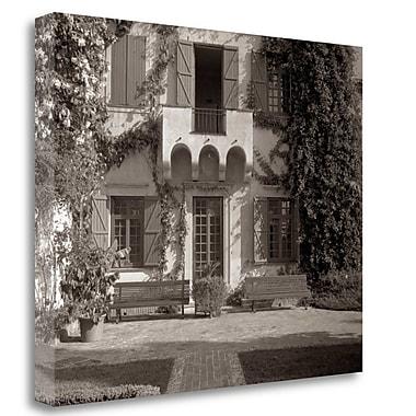 Tangletown Fine Art 'Banc de Jardin - 79' Photographic Print on Wrapped Canvas; 25'' H x 31'' W