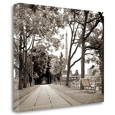 Tangletown Fine Art 'Promenade et Tour Eiffel - 1' Photographic Print on Wrapped Canvas
