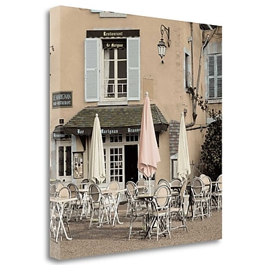 Tangletown Fine Art 'Le Marignan Brasserie' Photographic Print on Wrapped Canvas; 35'' H x 35'' W
